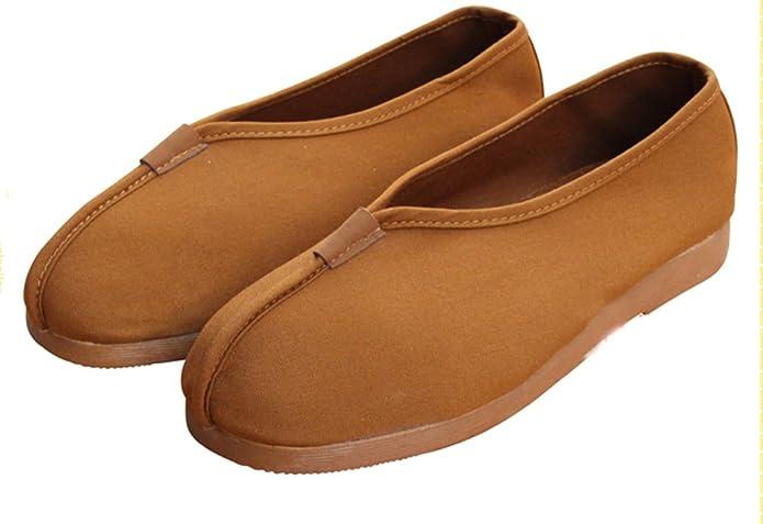 Amazon.com | Shaolin Unisex Monk Shoes Kung Fu Sneaker (44EU, Earth Yellow) | Shoes