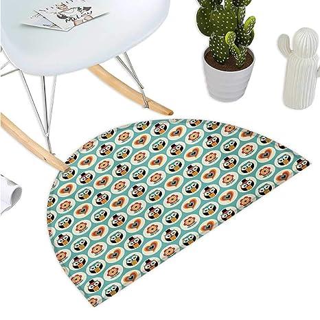Amazon.com: Cojín semicircular para niños y niñas, diseño de ...