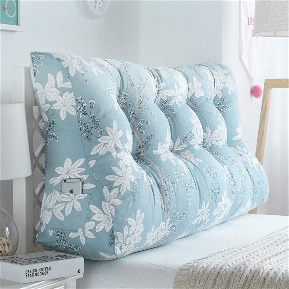 GLP ベッドサイドクッション三角背もたれ腰のソファ大きな枕張りパッド22色&8サイズで取り外し可能 (Color : U, Size : 200x30x60cm) B07RT5WZS2