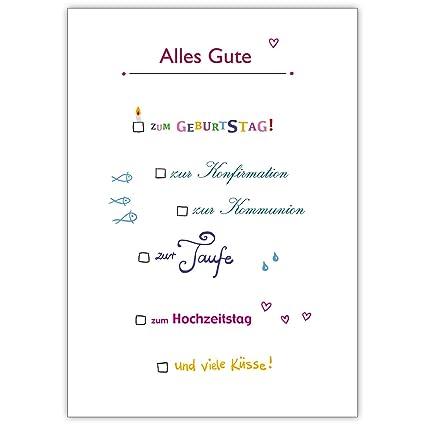 Lustige Ankreuz Karte Alles Gute Zum Geburtstag Zur Konfirmation
