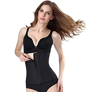 610dc7329f CCatyam Latex Waist Cincher Trimmer Corset Weight Loss Shaper Straitjacket  Lady Slim Fajas Trainer at Amazon Women s Clothing store
