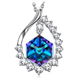 """SIVERY """"Magic of Love"""" Colour Change Necklace With Cubic Swarovski Crystal, Jewellery for Women, Gifts for Women"""