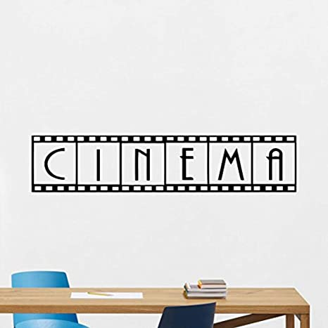 Film Strip Wall Decal Home Theater Cinema Tape Movie Vinyl Sticker Photo Video Game Play Room Office Poster Art Decor Bedroom Mural 56ct