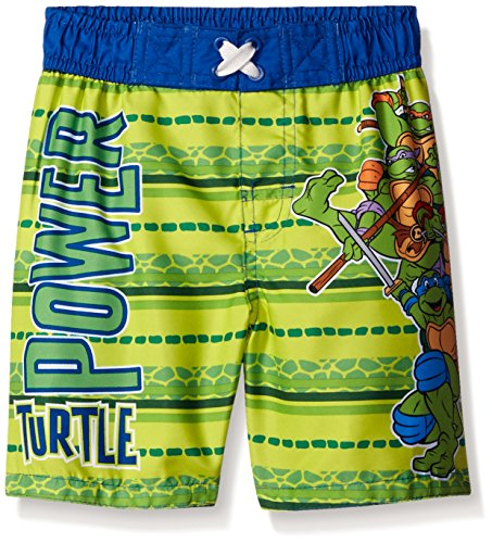 Nickelodeon Boys' TMNT Toddler Trunk, Blue/Green, 3T (Ninja Turtle Blue)