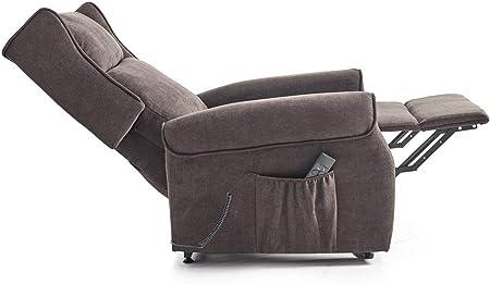 Home Heavenly - Butaca, sillón Relax, MILÁN, Sistema reclinable y Levanta-Personas motorizado, sillones, Cómodo Elegante Color Marrón, Gris (Marrón)