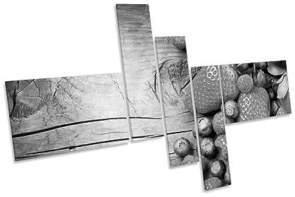 Stampe Da Cucina : Da cucina motivo: fragole b w & multi tela artistica da parete