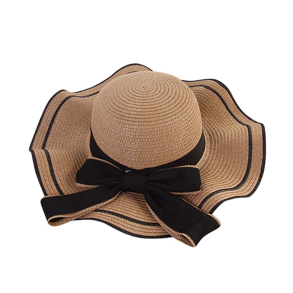 ed02d34898cc3 Vectry Sombrero Sombreros Mujer Verano Sombrero para Mujer Sombreros De Paja  Sombrero De Sol Sombrero De ...