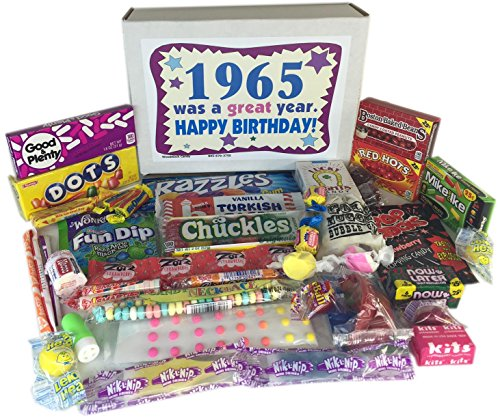 52nd Birthday Gift Box Of Nostalgic Retro Candy From Childhood For A 52 Year Old Man