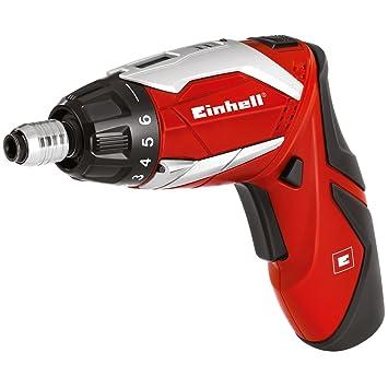 Einhell 4513495 RT-SD 3,6/2 Li Kit - Atornillador inalámbrico con caja de puntas de 32 piezas, bateria ión de litio, 5.4 W, 3.6 V, Rojo