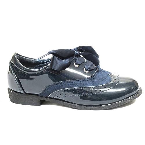 ad7cb992c85 Zapato infantil de charol Bubble Bobble A1744 color azul marino ...