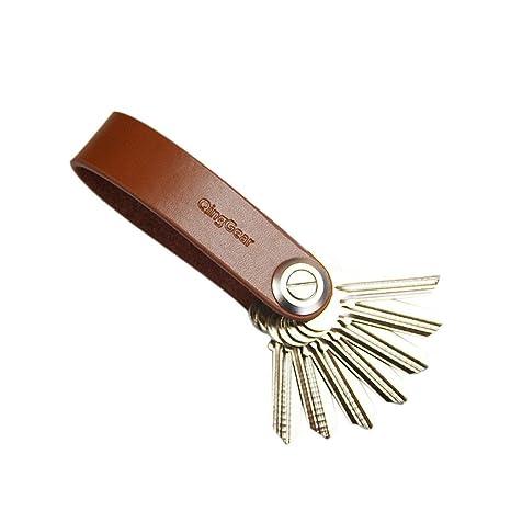 Finerolls Organizador de llaves Llavero Cuero Clip Llaves de ...