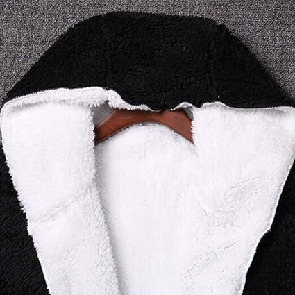 Luckycat Mujeres otoño Manga Larga con Capucha de Doble Cara Felpa Cardigan cálido Abrigo (Negro): Amazon.es: Ropa y accesorios