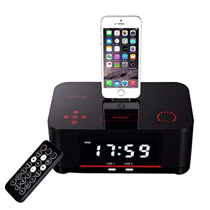 super popular 5a3e2 44e13 Amazon.com: LCYCN Bluetooth Dual Dua Alarm FM Clock Radio with ...