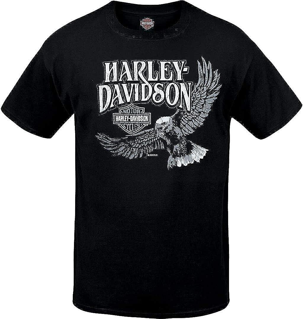Mens Black Eagle Graphic T-Shirt Harley-Davidson Military Retro Vibe RAF Lakenheath