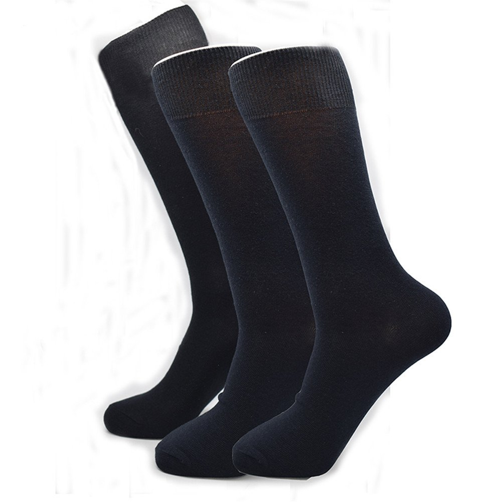 6 pack plus size big long leg business socks dress wedding black blue socks