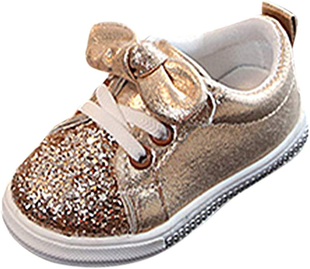 Dream/_Mimi Baby Boy Girls Sequin Crib Shoes Toddler Casual Glitter Moccasins Shoes Kids Sneakers Gold