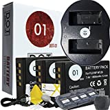 DOT-01 3x Brand Fujifilm X-A3 Batteries and Dual Slot USB Charger for Fujifilm X-A3 Mirrorless Camera and Fujifilm XA3 Accessory Bundle for Fujifilm NPW126 NP-W126