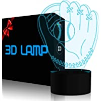 3D Illusion Desk Lamp, YKL World LED USB Touch Button 7 Color Changing Lights Night Light for Baby Nursery, Best Gift…