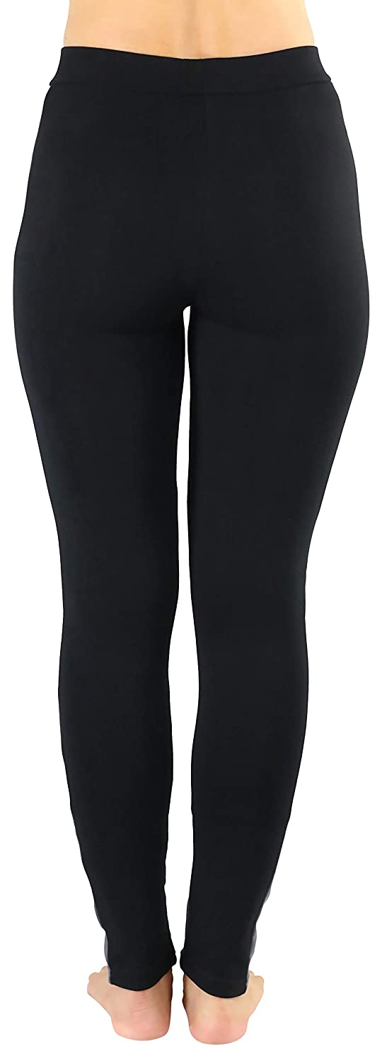 ToBeInStyle Womens Color Lined Sleek and Flexible Stretch Pants