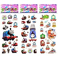 3 Sheets Puffy Dimensional Scrapbooking Party Stickers-FREE USA SHIPPING - THOMAS THE TANK TRAIN