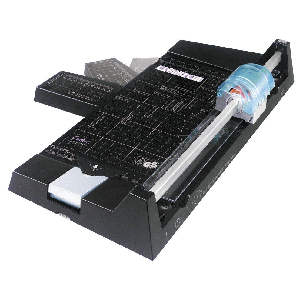 DIN A4 30.5 x 30.5 cm Nero RAYHER Clevercut 5-in-1 taglierina Carta con funzioni supplementari
