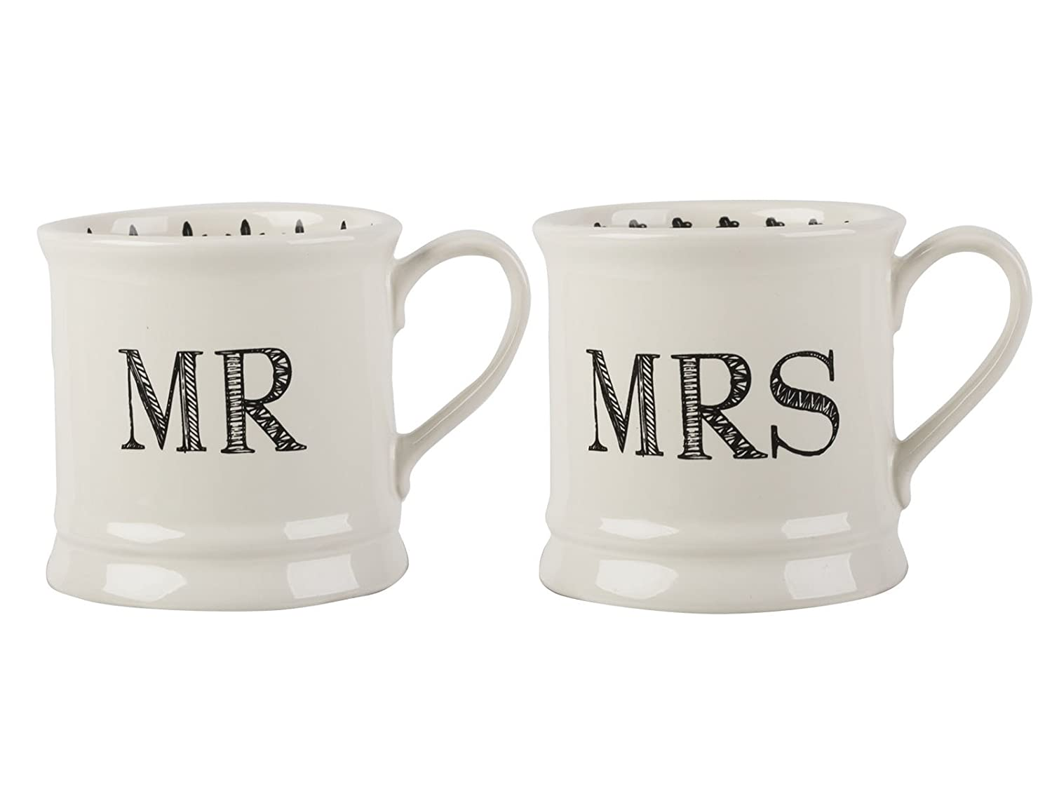 "Creative Tops ""Mine and Yours"" Set of 2 Ceramic Mugs, 280 ml (10 fl oz) 5199923"