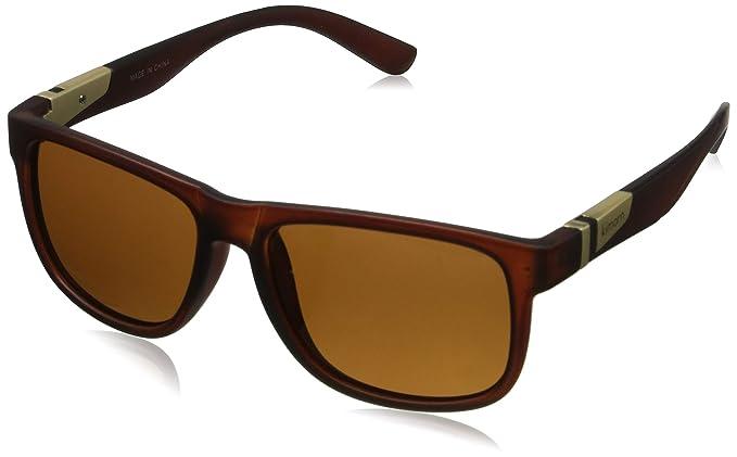 c4e189256f kimorn Polarizado Gafas De Sol Hombres Forma Cuadrada Retro Unisexo Anteojos  K0585 (Matte Brown)