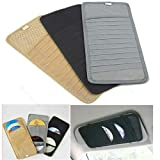 1Pc Car Sun Visor Sun Shade CD DVD Holder Case Disk Card Storage Bag Clipper New