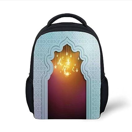 Amazon com: iPrint Kids School Backpack Moroccan,Mosque Door