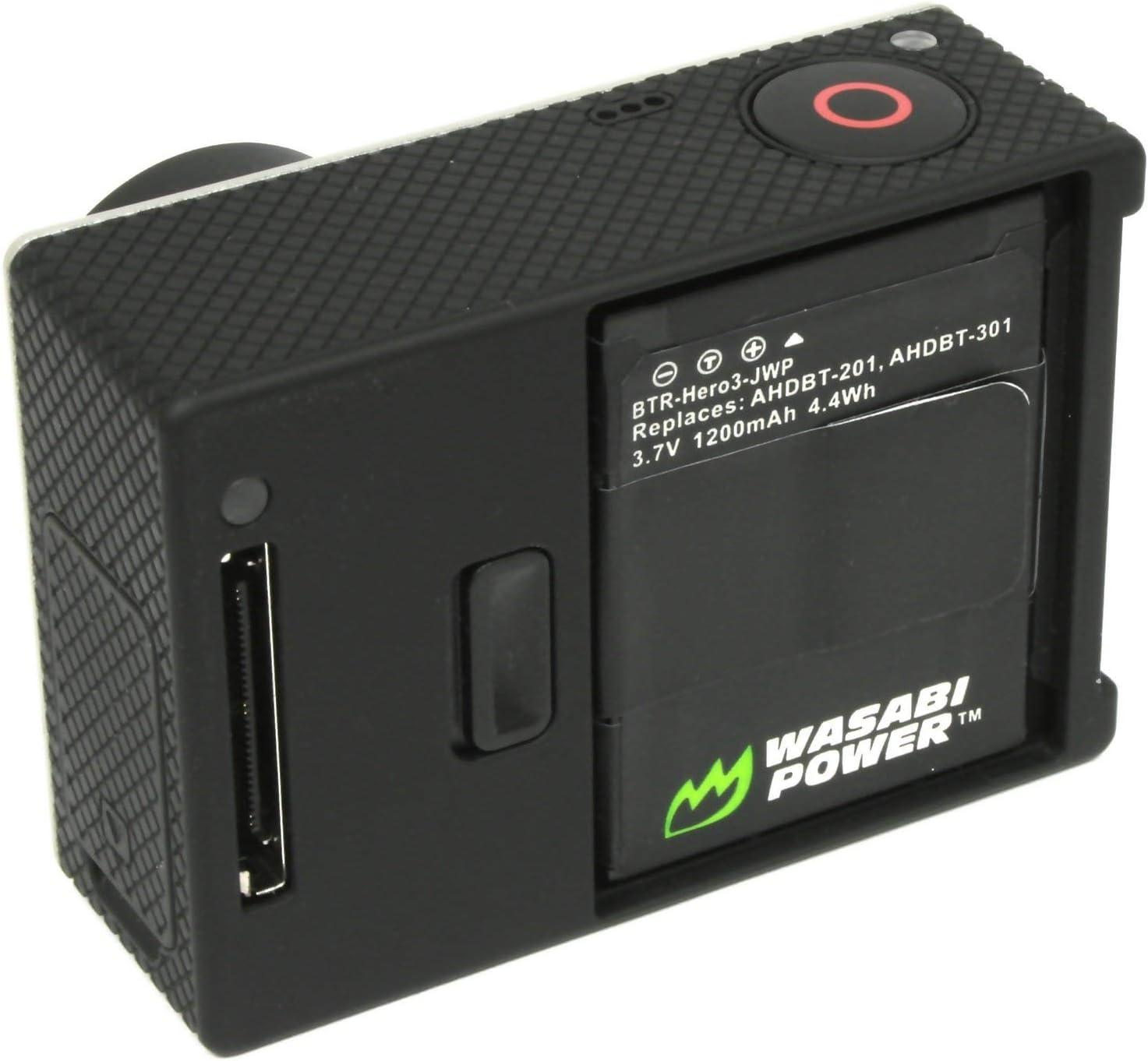 AHDBT-302 Wasabi Power Battery for GoPro HD HERO3 1200mAh AHDBT-301 HERO3+ and GoPro AHDBT-201