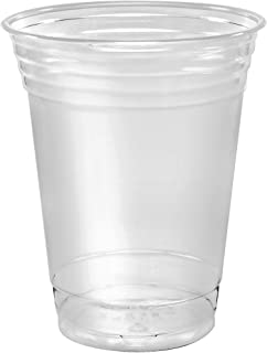 product image for SOLO Cup 100 Piece Company Plastic Party Cold Cups, Clear, 12 oz (TP12-100)