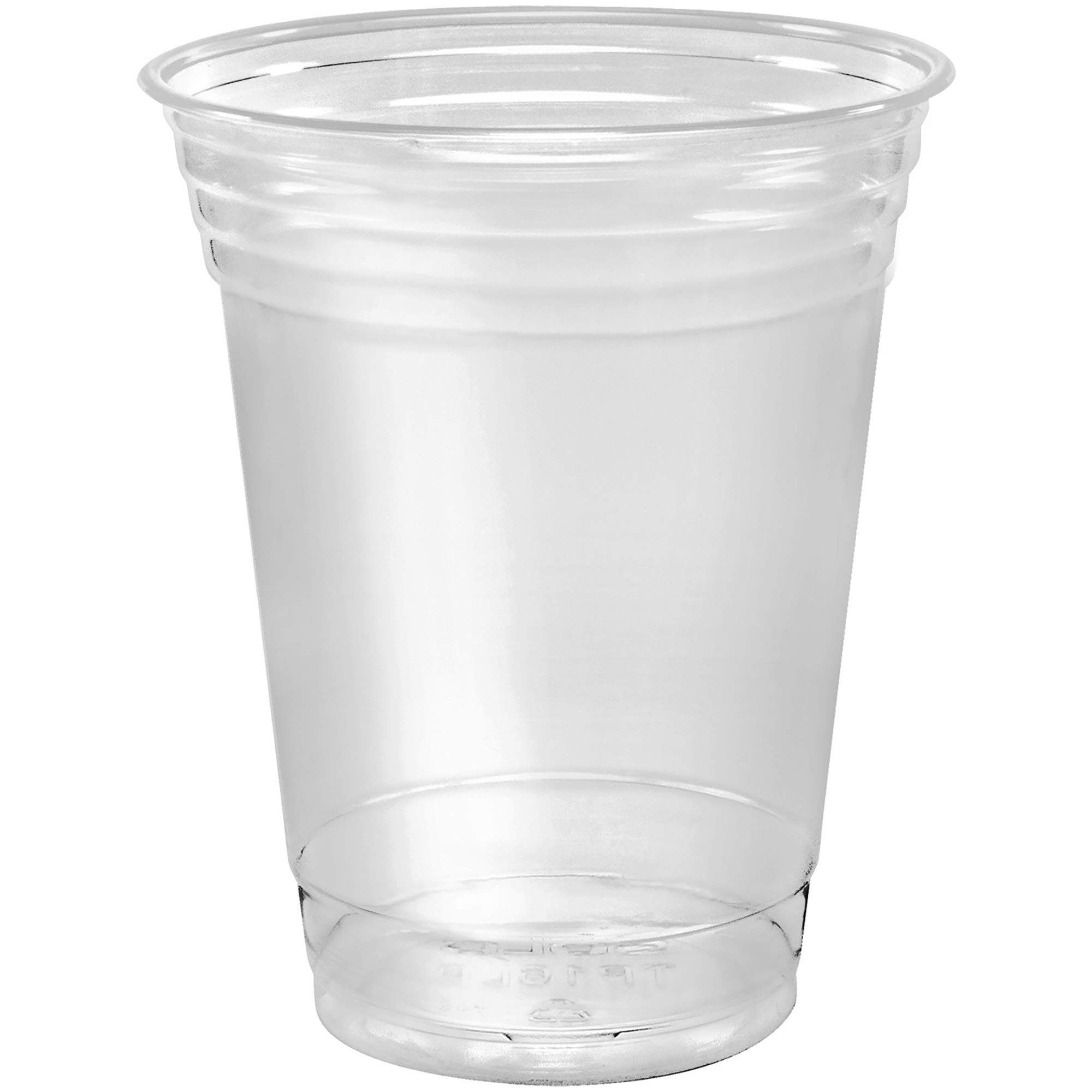 SOLO Cup Company 12 Ounce Solo 100 Piece Company Plastic Party Cold Cups, Clear, 12 Oz by Stack Man