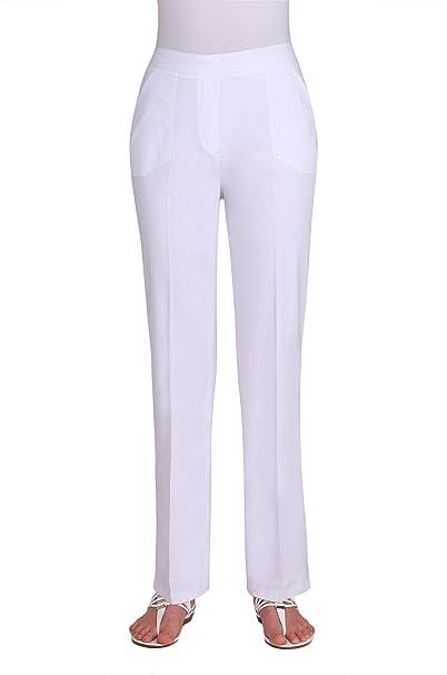 5ae024880f702 Nygard Women s Plus Size Alia Pull-On Cottage Pant White  Amazon.ca ...