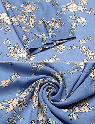 Dress V Floral Tie Hem Dress Irregular Pattern1 Wrap Neck Waist Women Zeagoo Cardigan Party x76Hnwt4