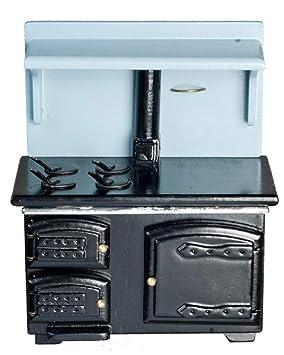 Amazon.es: Melody Jane Miniatura para Casa De Muñecas 1:12 Escala Muebles DE Cocina Victoriana Cocina Madera Estufa: Juguetes y juegos