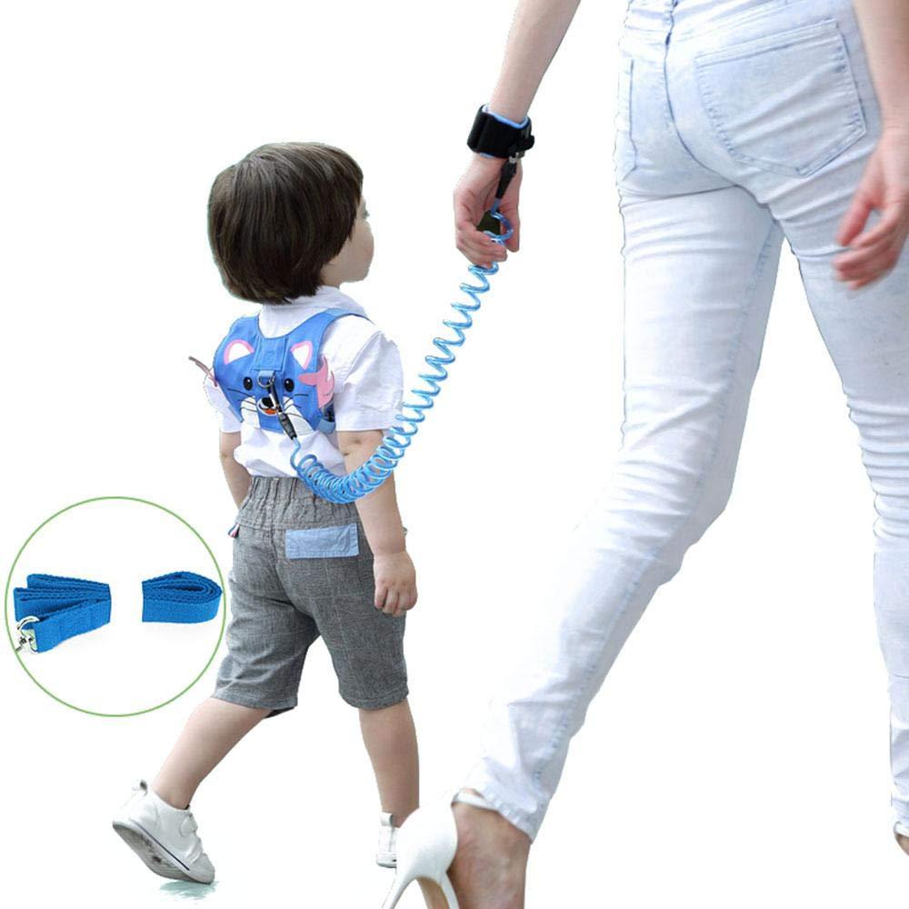 FOONEE - Arnés de Seguridad para niños, arnés de Seguridad con 2 Piezas de eslabones de muñeca Anti pérdida (Cadena de Nailon y Cadena elástica)