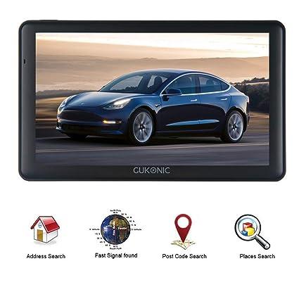 """GUKONIC GPS para Coche Pantalla de 7"""" Nüvi con LCD capacitiva 8GB Speedcam Radar Asistencia"""