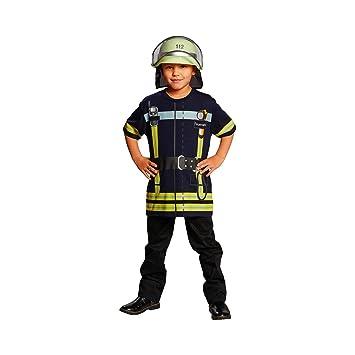 Juegos de bomberos camiseta de colour azul, para niño ...