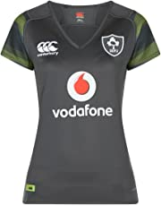Canterbury Ireland Official 17/18 Women's Rugby Short Sleeve Away Pro Jersey