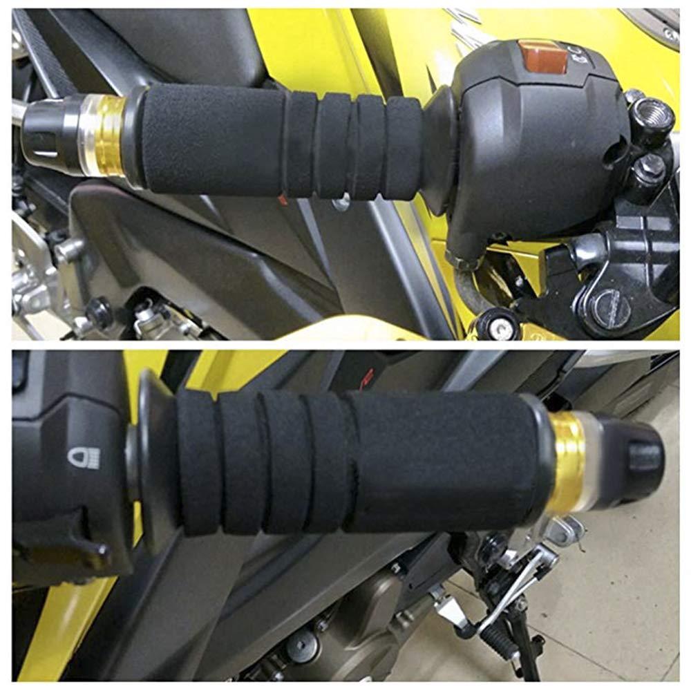 Universal Lenkergriffe Lenkergriffe 22 mm Motorrad Scooter Fahrrad Griff Schwamm Sto/ßd/ämpfend Weichschaum Grip Rutschfest Schwarz 1 x Paar f/ür Honda Kawasaki Yamaha Suzuki