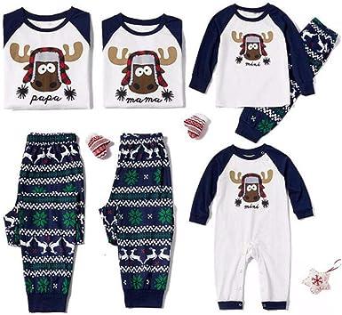 Papá Noel Elk Navidad Mamá y yo Ropa para Pijamas Familiares ...