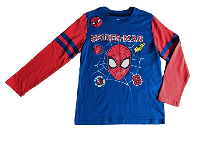 c003fcf10 Amazon.com: Spiderman Boys Long Sleeve Shirt Kid Little Big ...