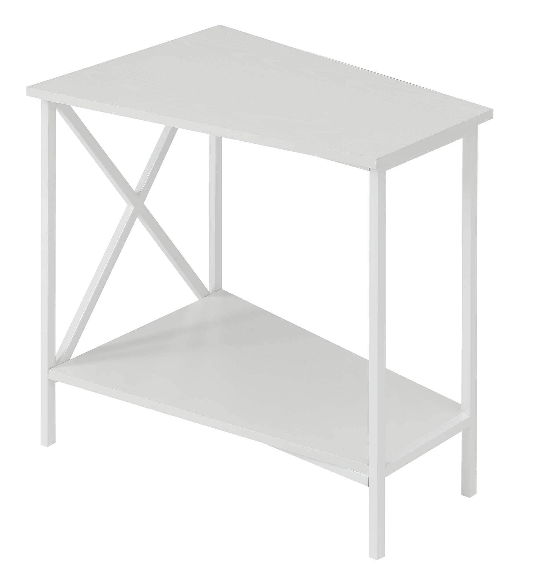 Convenience Concepts 161860WFW Tucson Wedge End Table, White by Convenience Concepts