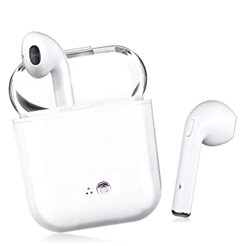 Auriculares Bluetooth,Auriculares antitracción Bluetooth Auriculares estéreo inalámbricos Mini Auriculares Manos Libres,Kit de Carga,para iPhone X/8/7/6/s ...