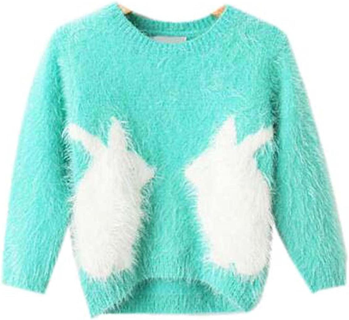 Littleladybug Girls Two Rabbits Pullover Sweater