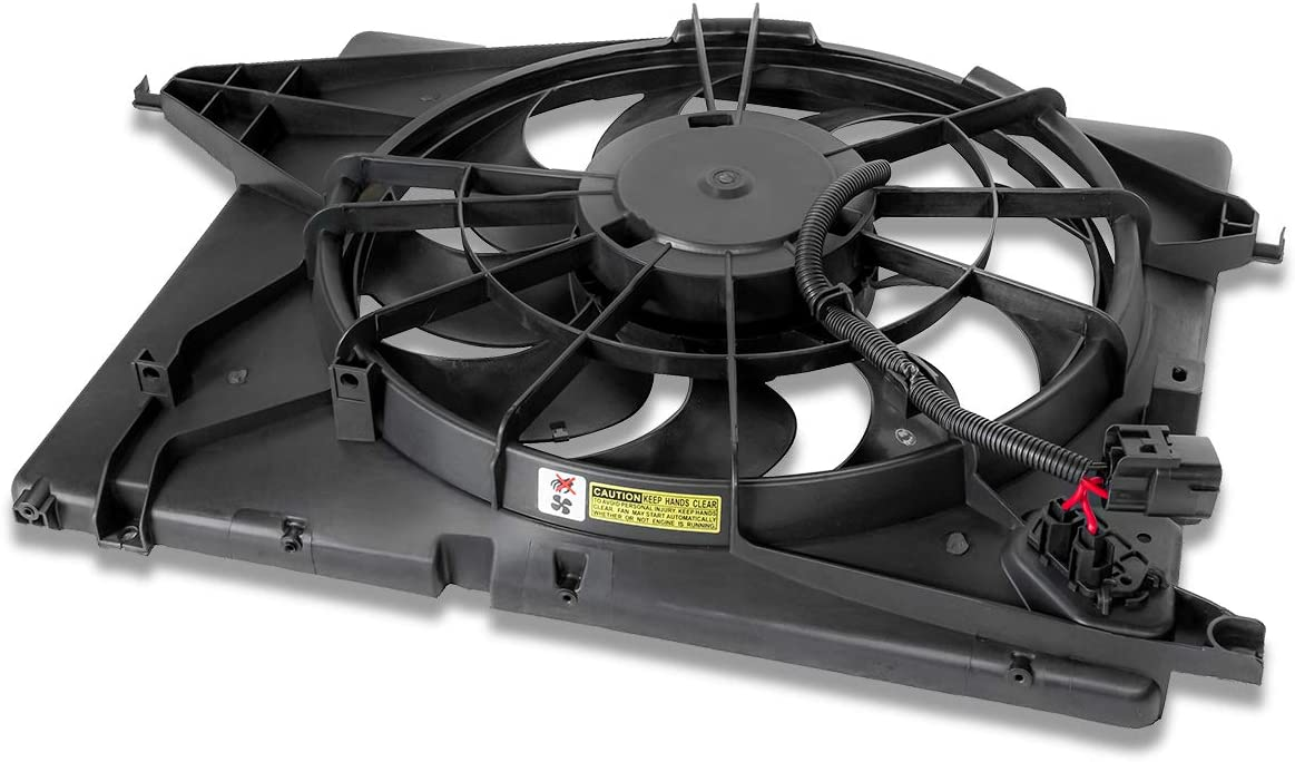 HY3115130 OE Style Radiator Cooling Fan Shroud Assembly Replacement for Sorento Santa Fe 10-15