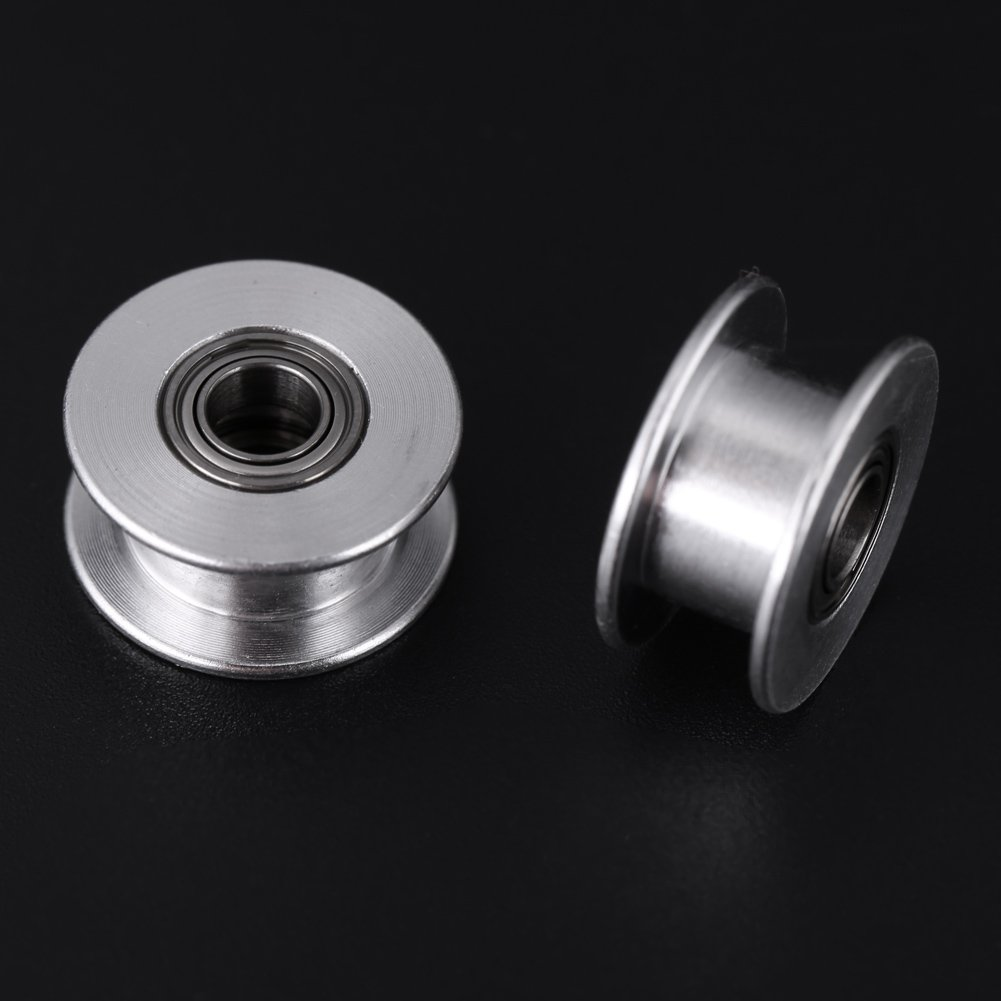 3mm//5mm Bore Wheel 16//20 Tooth or Toothless for Belt Width 6mm//10mm 5Pcs 2GT Aluminum Timing Pulley 3D Printer Accessories W6mm, 20T, Bore 3, Toothed