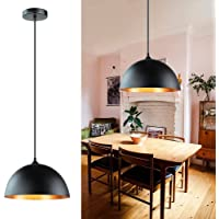 Depuley Kitchen Pendant Light, 2 Packs Industrial Ceiling Lighting Fixture with Metal Dome Lamp Shade, Hanging Lamp for…