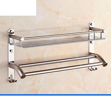 YUE Estante de toalla del acero inoxidable/Toallas/Ducha baño baño de rack/