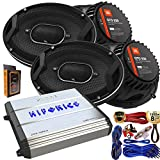 "(4) JBL GTO939 Premium 6x9"" Co-Axial Speaker + Hifonics ZXX-600.4 Zeus 600 Watt 4 Channel Bridgeable Amplifier + Amp Kit"